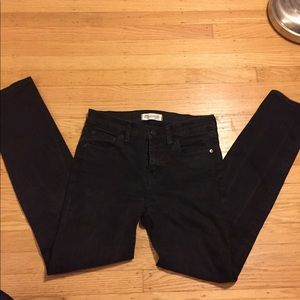 Madewell Alley Straight Jeans in black wash